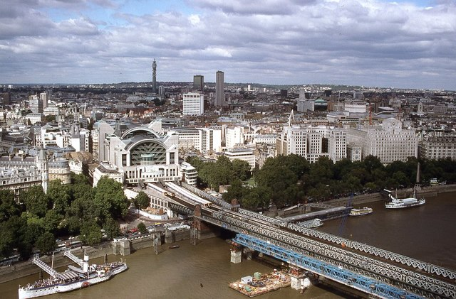 Charing Cross Station from the London Eye
