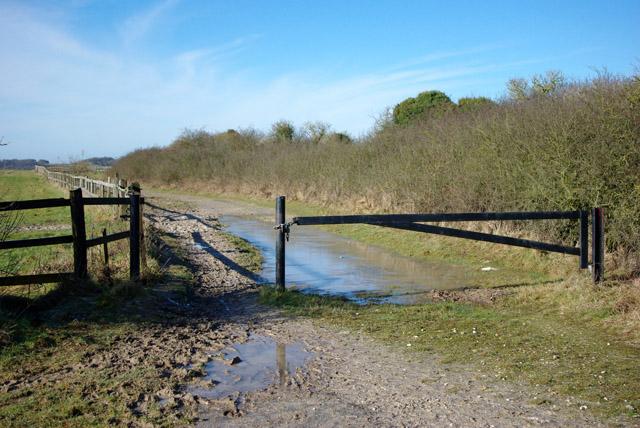 Barrier on bridleway