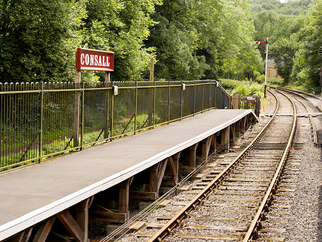 Churnet Valley Railway, Consall Station Platform