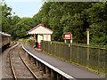 SK0048 : Churnet Valley Railway, Passenger Waiting Shelter at Consall Station by David Dixon