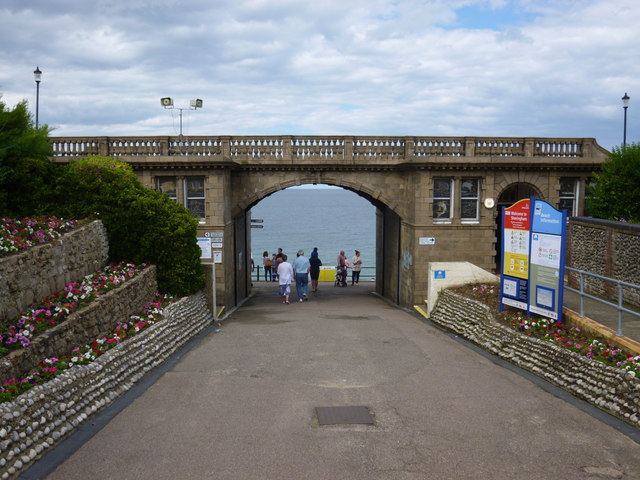 Arch on the West Promenade in Sheringham