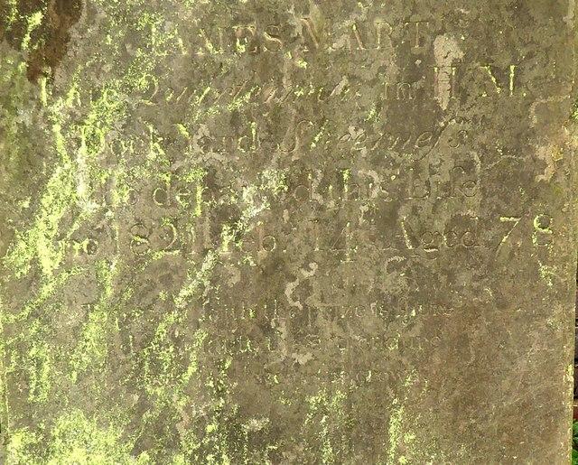 Minster Abbey: inscription on the headstone of a dockyard quartermaster, 1821