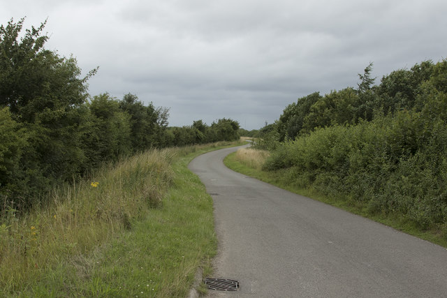 A narrow country lane