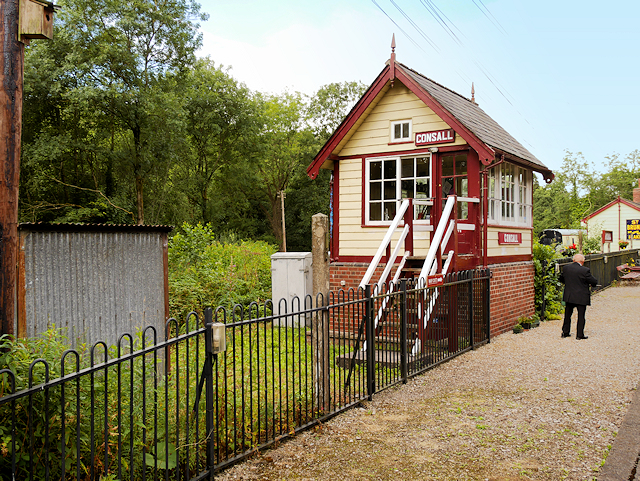 Signal Box at Consall Station