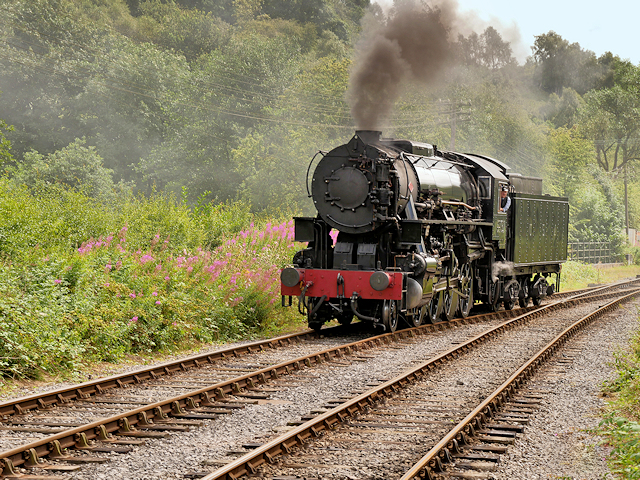 Churnet Valley Railway Locomotive Approaching Froghall
