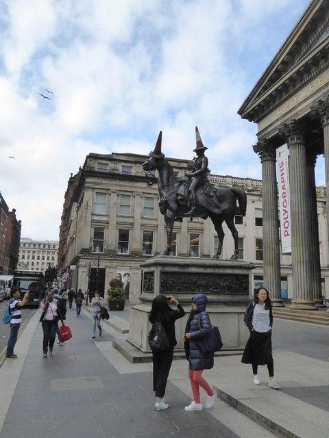 A popular subject for photographers, the Duke of Wellington statue