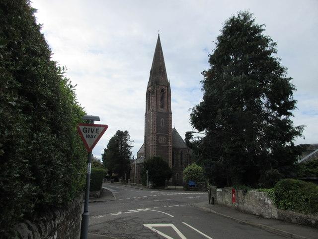 Church spire in Crieff