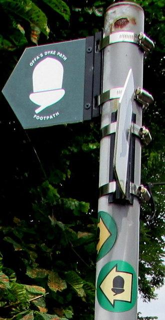 Offa's Dyke Path signpost detail, Tutshill
