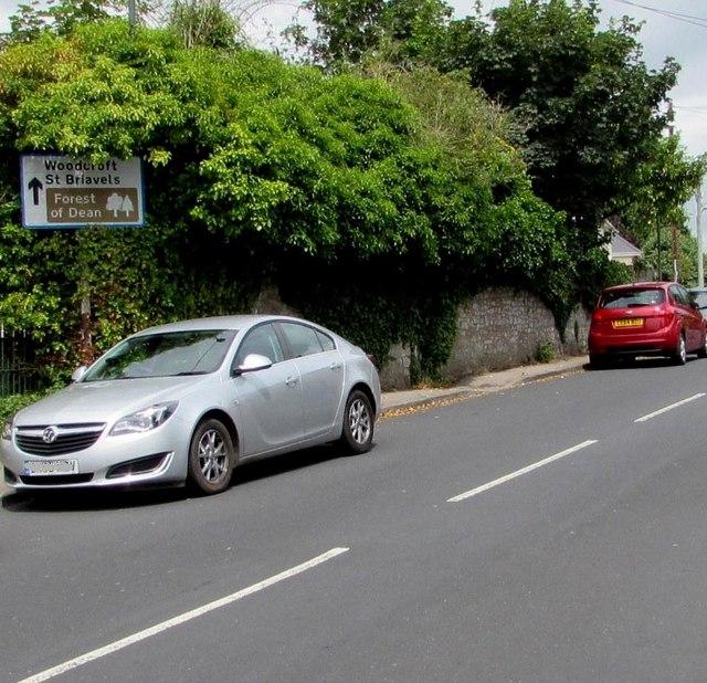 Direction sign, Beachley Road, Tutshill