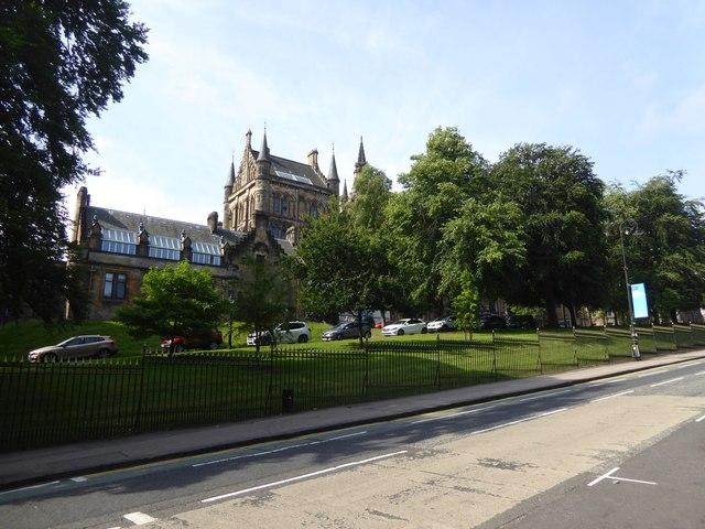 Glasgow University buildings from University Avenue
