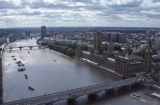 View of the Thames from the London Eye