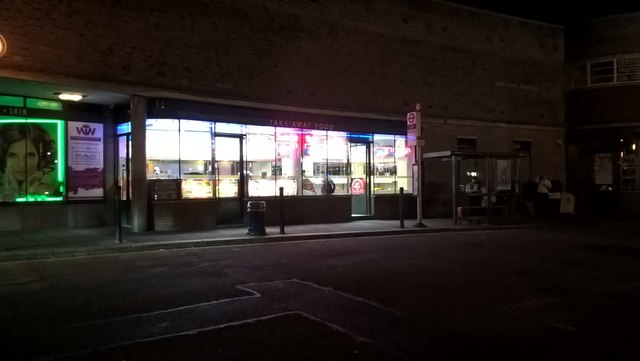 Southgate Kebab Shop at night