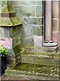 SK4641 : Bench mark, St Mary's Church, Ilkeston by Alan Murray-Rust