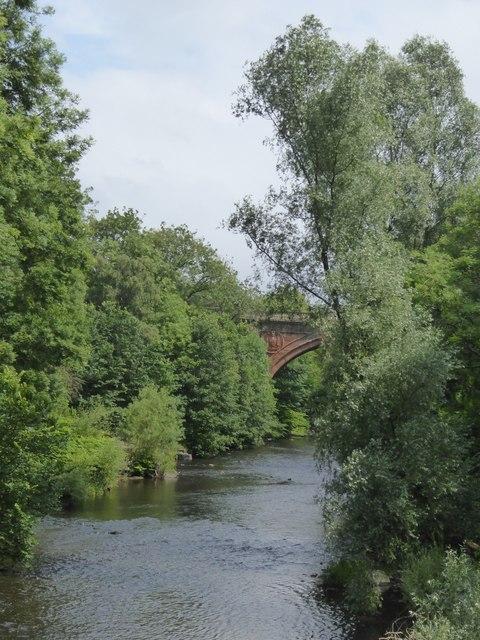 River Kelvin upstream of Ha'penny Bridge