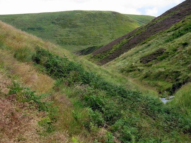 View down Blind Burn valley