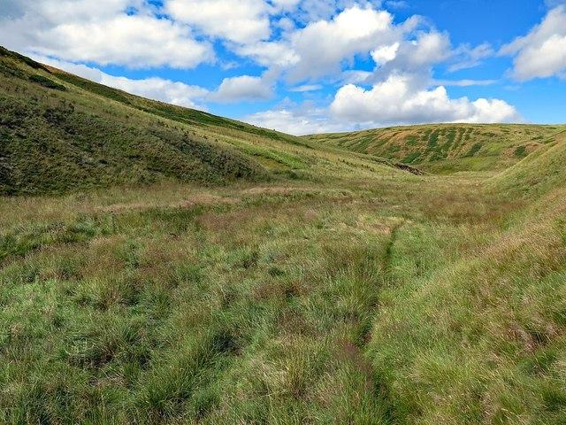 Faint path in the Blind Burn valley