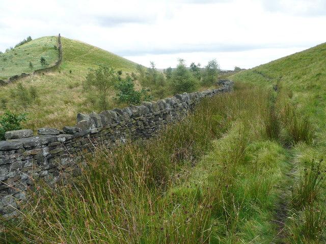 Path along the edge of the moor, Littleborough