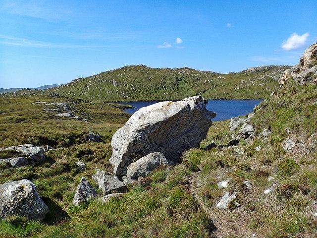 Erratic Boulder above Loch nan Uidhean