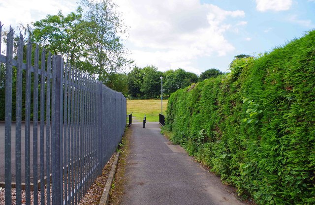 Footpath from Factory Lane, Bromsgrove, Worcs