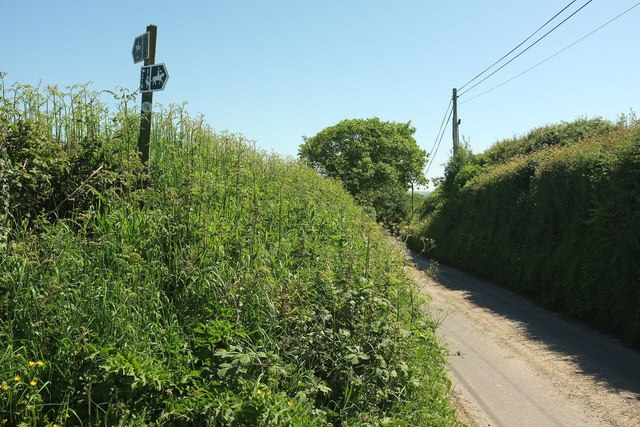 Bridleway sign west of Four Ashes