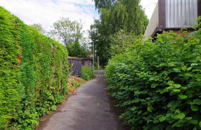 Footpath to Factory Lane, Bromsgrove, Worcs
