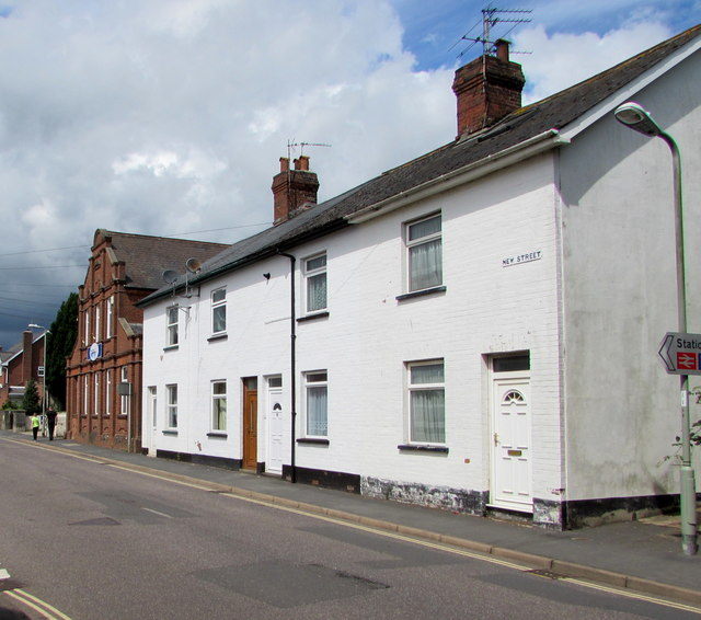 White houses, New Street, Honiton