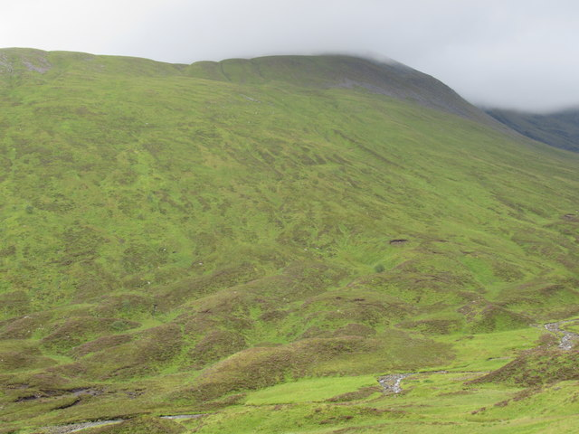 Slopes of Sron a' Choire from the very fine footpath into Coire Ardair