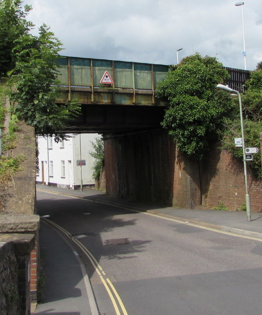South side of New Street railway bridge, Honiton