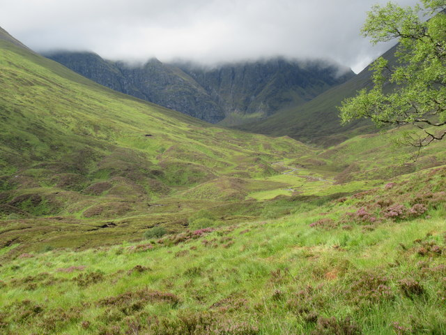 View of the 'toes' of Sron a' Choire near Loch Laggan