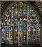 SX9292 : Quire east window, Exeter Cathedral by Julian P Guffogg