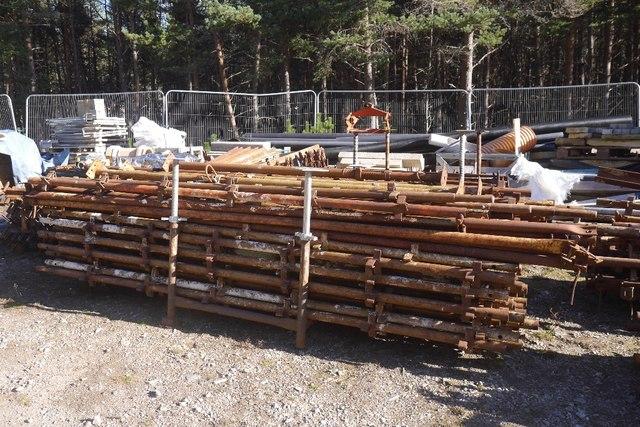 Scaffolding in Glen Feshie
