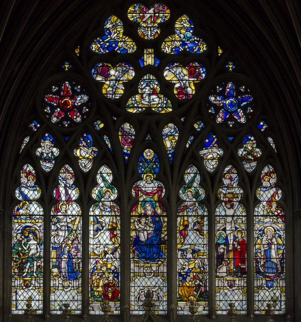 Lady chapel, east window, Exeter Cathedral