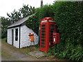 SW6031 : Elizabeth II postbox and telephone box, Godolphin Cross by JThomas