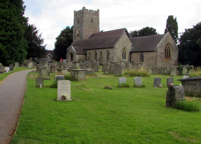 Village church and churchyard, English Bicknor