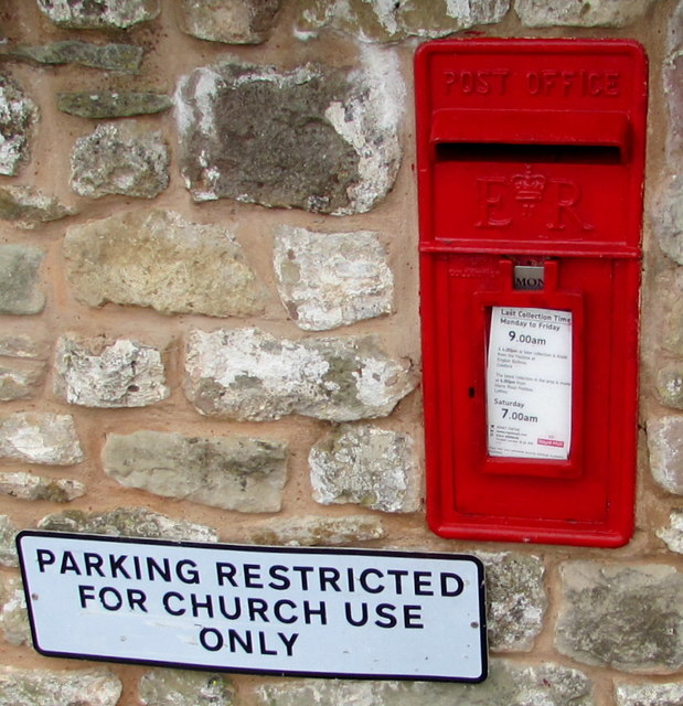 Queen Elizabeth II postbox in an English Bicknor wall