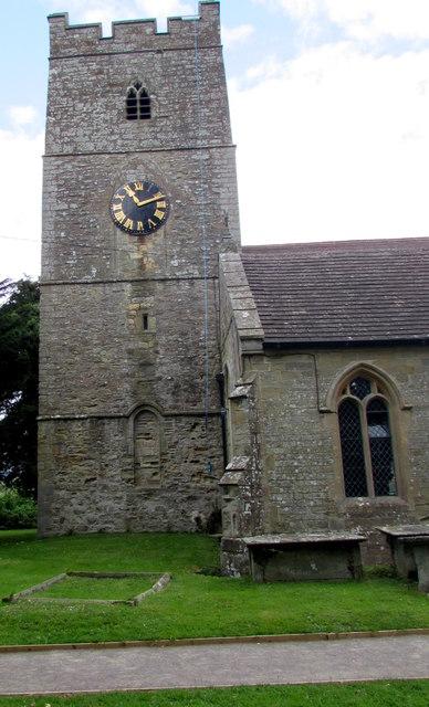 Church clock and tower, English Bicknor