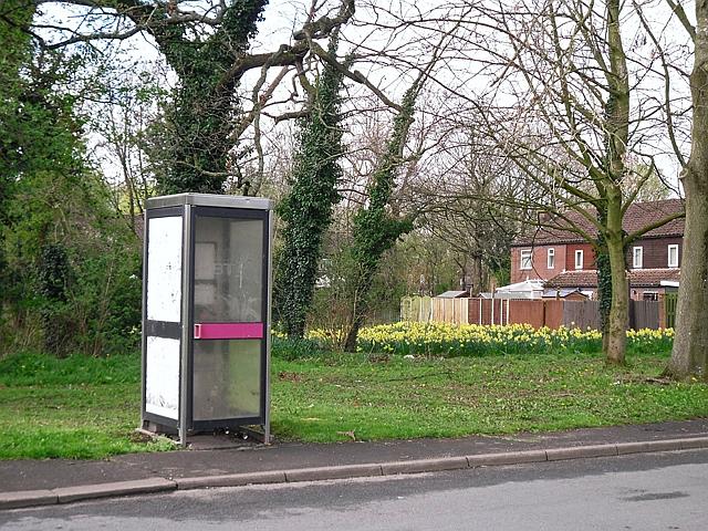 Unusable telephone box, Geltsdale Avenue