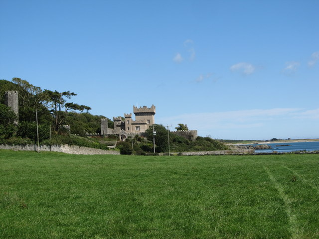 View North towards Quintin Castle
