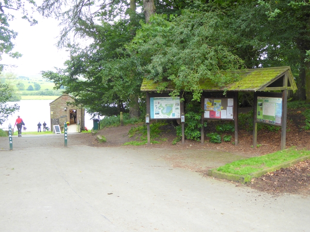 Notice boards  at Talkin Tarn