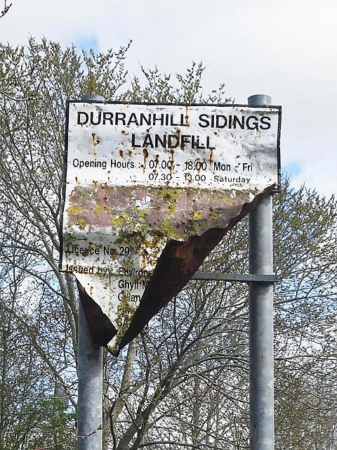 Old sign, Durranhill Sidings Landfill