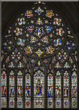 SX9292 : West window, Exeter Cathedral by J.Hannan-Briggs