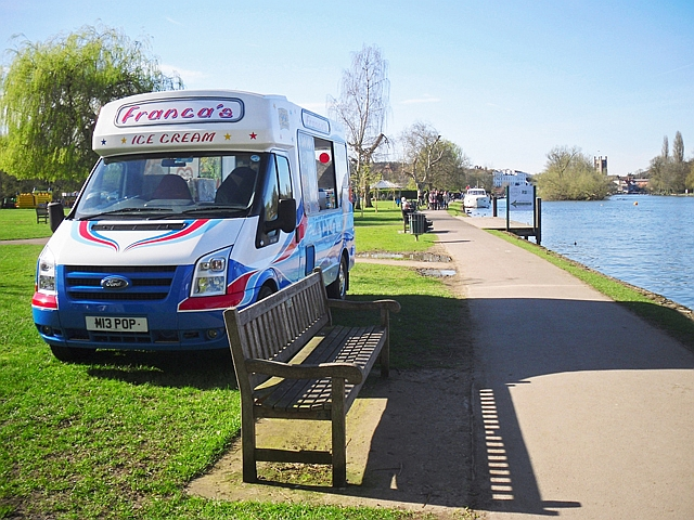 Ice cream van at Mill Meadows