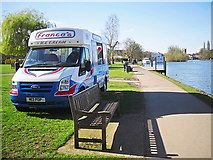 SU7682 : Ice cream van at Mill Meadows by Rose and Trev Clough