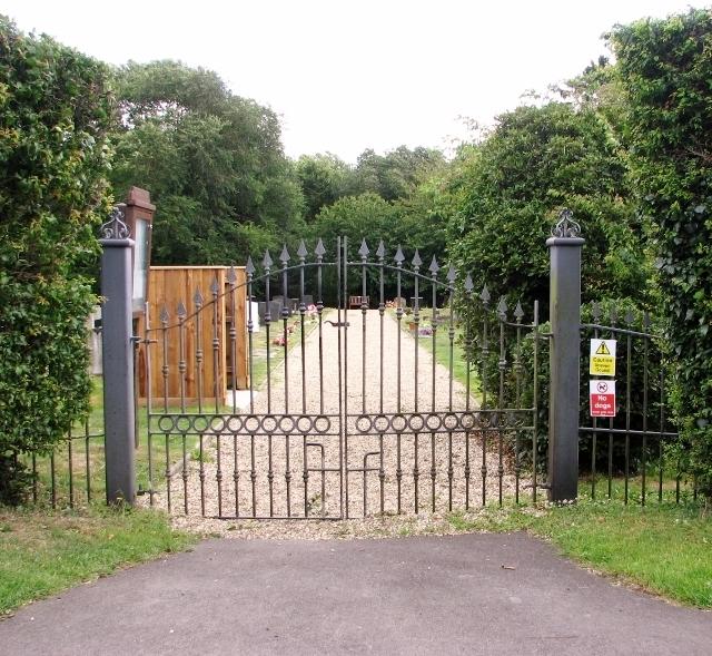 Entrance into Poringland cemetery