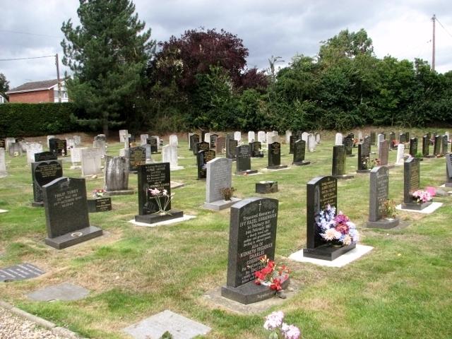 Graves in Poringland cemetery