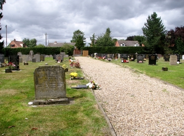 Path in Poringland cemetery