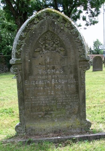 Grave of Thomas Bardwell