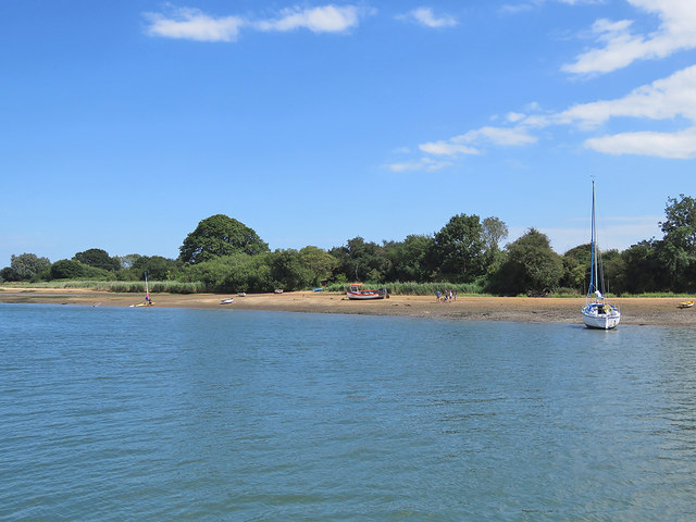 A beach on the Deben