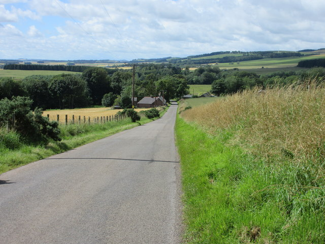Road downhill to Sarah's Cottage