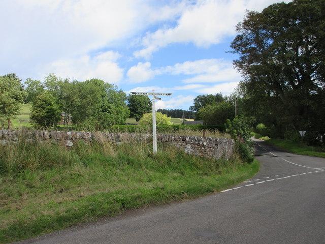 Fingerpost at Tigerton